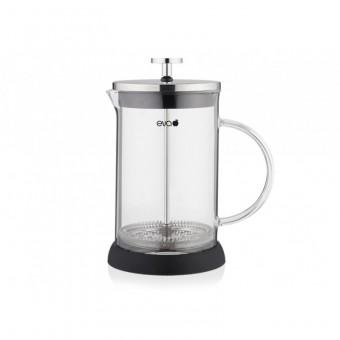 EVA - French press - Dugattyús kávé/teafőző - 800 ml - boroszilikát üveg