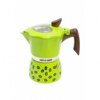 G.A.T. - Coffee show - kotyogós kávéfőző - 2 csészés - zöld - SZÉPSÉGHIBÁS