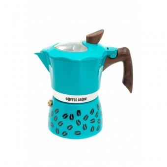 G.A.T. - Coffee show - kotyogós kávéfőző - 6 csészés - zöldeskék-SZÉPSÉGHIBÁS