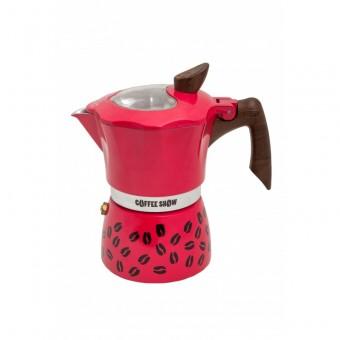 G.A.T. - Coffee show  - kotyogós kávéfőző - 3 csészés - bordó