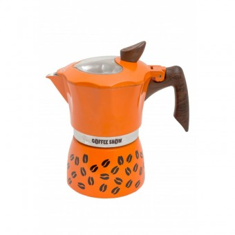 G.A.T. -  Coffee show - kotyogós kávéfőző - 6 csészés - narancssárga