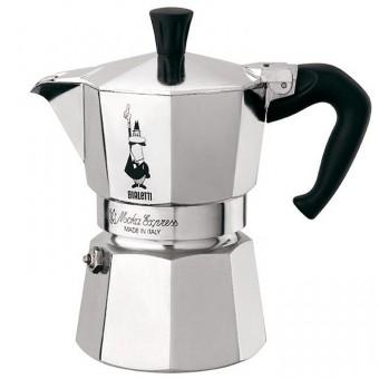BIALETTI - Moka Express - olasz hagyományos kávéfőző - 3 adagos - ezüst
