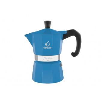 FOREVER - Miss Moka Prestige - Azzurra - hagyományos kávéfőző - 3 csészés - kék