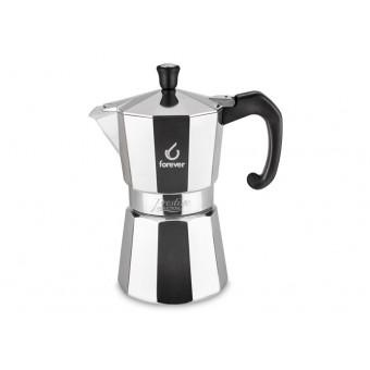 FOREVER - Miss Moka Prestige Induction - hagyományos kávéfőző - 3 csészés - alu és acél