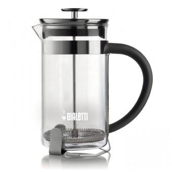 BIALETTI - Simplicity - French Press - Dugattyús kávé/teafőző - 1 L - boroszilikát üveg és inox