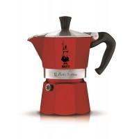BIALETTI - Moka Express Colour - hagyományos kávéfőző - 3 adagos - piros