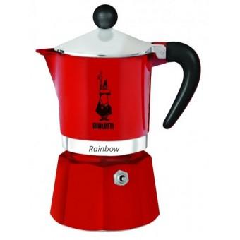 BIALETTI - Rainbow - hagyományos kávéfőző - 6 adagos - piros