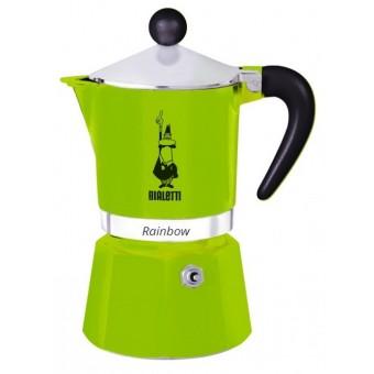 BIALETTI - Rainbow - hagyományos kávéfőző - 3 adagos - zöld