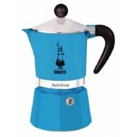 BIALETTI - Rainbow - hagyományos kávéfőző - 3 adagos - kék