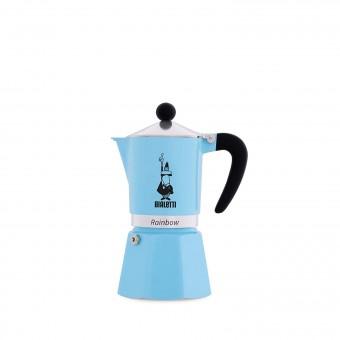 BIALETTI - Rainbow - hagyományos kávéfőző - 3 adagos - világoskék