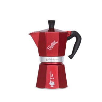 BIALETTI - Moka Express - hagyományos kávéfőző - 6 adagos - bordó - limited edition - 100 éves évorduló