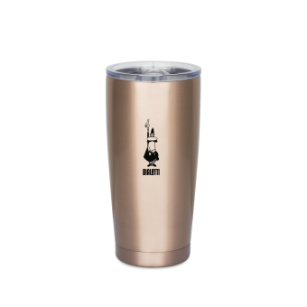BIALETTI - hőtartó rozsdamentes acél bögre/pohár - 550 ml - rose gold-  limited edition