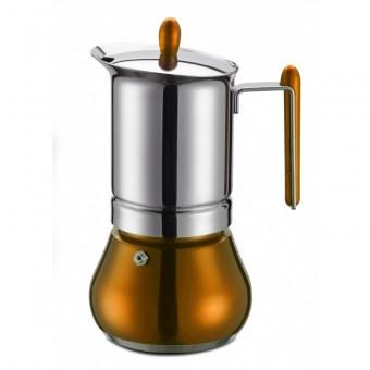 G.A.T. - Anett - kotyogós kávéfőző - 4 csészés -  arany - SZÉPSÉGHIBÁS