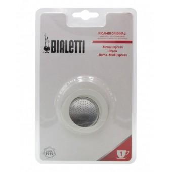 BIALETTI - Gumi tömítés és szűrő - 1  adagos BIALETTI kávéfőzőkhöz