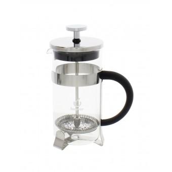FOREVER/EVA - French press - Dugattyús kávé/teafőző - 350 ml - hőálló üveg és fém foglalat