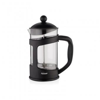 EVA - French press - Dugattyús kávé/teafőző - 800 ml - boroszilikát üveg és műanyag - fekete