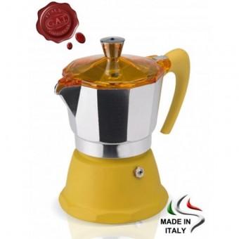 G.A.T. - Fantasia - kotyogós kávéfőző - 9 csészés - sárga