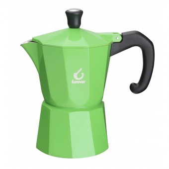 FOREVER - Miss Moka Super Colori - kávéfőző - 3 csészés - zöld