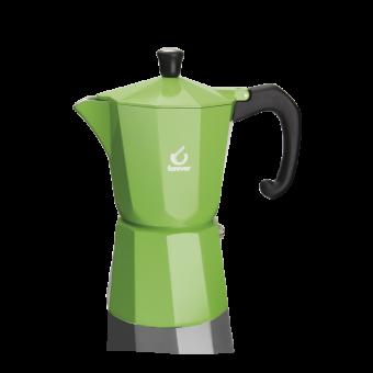 FOREVER - Miss Moka Super Colori - kávéfőző -  6 csészés - zöld - SZÉPSÉGHIBÁS