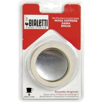 BIALETTI - Gumi tömítés és szűrő - 9 adagos BIALETTI kávéfőzőkhöz