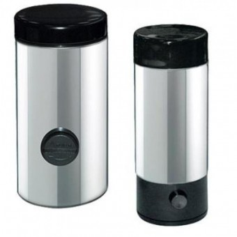 MELICONI - Kávéadagoló/kávétároló doboz - cukoradagoló együtt - inox és műanyag