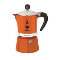 BIALETTI - Rainbow - hagyományos kávéfőző - 3 adagos - narancssárga