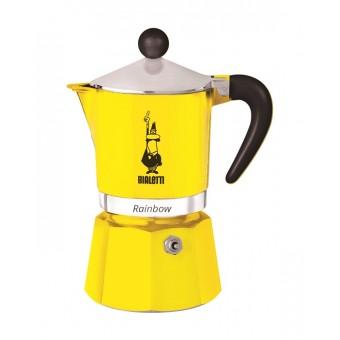BIALETTI - Rainbow - hagyományos kávéfőző - 3 adagos - sárga