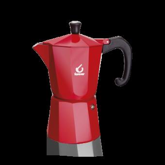 FOREVER - Miss Moka Super Colori - kávéfőző - 6 csészés - piros - SZÉPSÉGHIBÁS