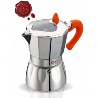 G.A.T. - Valentina - kotyogós kávéfőző - 1 csészés - narancssárga