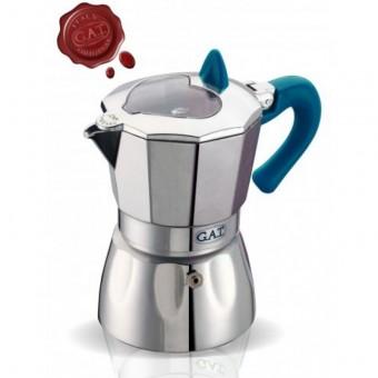 G.A.T. - Valentina - kotyogós kávéfőző - 6 csészés - kék