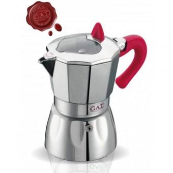 G.A.T. - Valentina - kotyogós kávéfőző - 2 csészés - rózsaszín