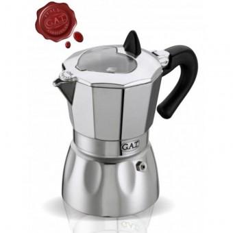 G.A.T. - Valentina - kotyogós kávéfőző - 2 csészés - fekete