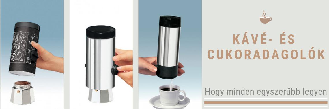 Kávé és cukoradagolók